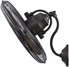 Damp Rated Bronze 18-in 3-Speed Oscillation Fan Indoor Outdoor Porch Patio