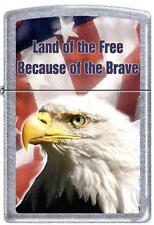 Zippo 1815 eagle land of the free RARE & DISCONTINUED Lighter