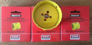 SWA 64 mm ,73mm, 76mm Bi Metal Hole Saw Set