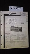 Quasar GX3645YE service manual stereo cassette player boombox original repair