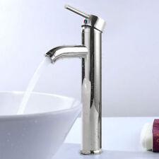 "12"" Modern Bathroom Lavatory Vessel Sink Faucet Brushed Chrome Single/One Handle"