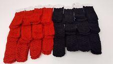 Wholesale 24 pcs Girls Baby Crochet Headband With 1.5 inch Acrylic (Black-Red).