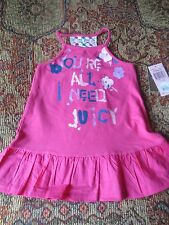 Juicy Couture hot pink 2 pc dress NWT size 12-18 months