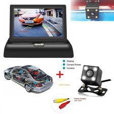"170° LCD Auto Rückfahrkamera Nachtsicht Einparkhilfe Set 4,3"" klappbar Monitor"