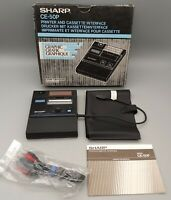 Vintage Sharp CD-50P Printer and Cassette Interface with Box and Manual