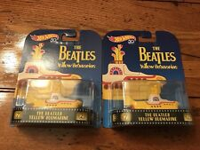 Hot Wheels 50th Retro Entertainment The BEATLES YELLOW SUBMARINE Lot of TWO 2