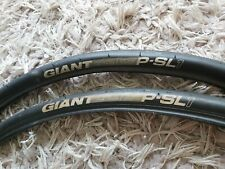 Pair of Giant PSL1 Tyres - 700x25c Rear, 700x23c Front - Very Good Condition