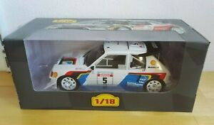 Peugeot 205 T16 Evo 2 Saby-Fauchille Rally Tour de Corse 1986 Altaya ixo 1:18