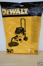 PACK OF 5 DEWALT DWV9402 FLEECE DUST COLLECTION BAGS FOR DWV902M  DUST EXTRACTOR