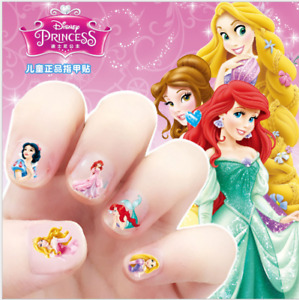 5 Disney Princess Elsa Pony Kids Girls Nail stickers Art Decal Party Filler