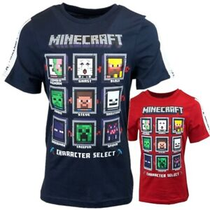 Boys Kids Children Minecraft 100%Cotton Gaming T Shirt Top t-shirt Age 7-18years