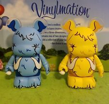 "Disney Vinylmation 3"" Park Set 2 Urban Redux Wooly Mammoth Lot Variant Blue"