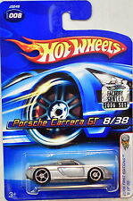 HOT WHEELS 2006 FIRST EDITIONS PORSCHE CARRERA GT #008 SILVER FACTORY SEALED