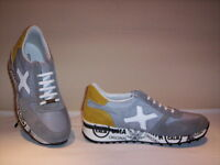 Frankie Model scarpe sportive sneakers casual uomo pelle camoscio tela grigie