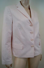 BOSS HUGO BOSS Women's Pale Pink 100% Cotton Fine Rib Casual Blazer Jacket UK14