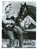 Monte Hale Jsa Coa Hand Signed 8x10 Photo Authenticated Autograph