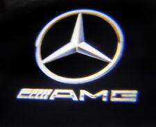 "4 X LED Auto Door AMG LOGO VIDEOPROIETTORE ""LASER"" Puddle Luce per MERCEDES E CLASSE"