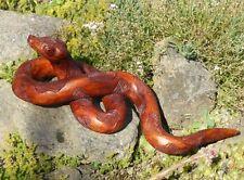 große 44cm Holz SCHLANGE Figur Boa Python Kobra Natter Handarbeit Tier Snake03