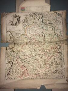 WESTPHALIE. GRANDE CARTE DE LA WESTPHALIE par LE ROUGE, 1742.