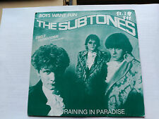 SINGLE PROMO THE SUBTONES - RAINING IN PARADISE - PDI SPAIN 1986 VG+