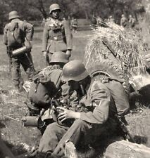 WWII Photo Wehrmacht Break Time German Army  WW2 Germany  World War Two / 2361