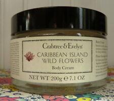 NEW & SEALED CRABTREE & EVELYN CARIBBEAN ISLAND WILD FLOWERS BODY CREAM 7.1 OZ