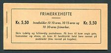 Norway Booklet with Scott 307a, 325a, 323a, All Inverted Panes, Facit H25