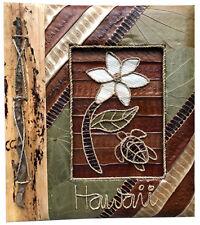 "Hawaiian Handmade Natural Materials 40 Photos Album Honu Plumeria Hawaii 4""x6"""