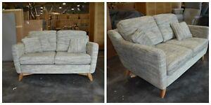 Ercol Cosenza 3330SCM Small  Sofa in cm Oak  and  Fabric T237