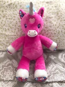 "Build A Bear Workshop Candy Hearts Unicorn Horse Pink 17"" Valentine's BABW"