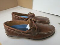 MENS SPERRY TOP SIDER LEEWARD 2 EYE DARK BROWN BOAT SHOES STS18231 SIZE 8M A78