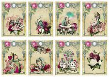 Alice In Wonderland Pink Rose Glossy Finish Card Topper - Crafts Embellishment