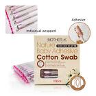 50p in 1Box Mother Baby Adhesive Cotton Swab  Tracking Newborn Round Safety