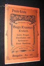 1903 Hugo Kraemer Krefeld Preisliste Drogen Chemikalien Germania 3 Drucksache