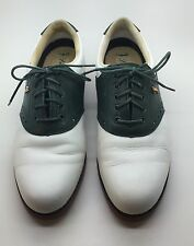 LADY FAIRWAY Green & White Genuine Leather Golf Shoes Woman's Size 7.5 N