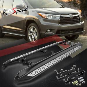 """3.5"""" Aluminum Chrome Edge Step Bar Running Boards for 14-16 Toyota Highlander"""