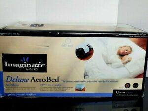 Aero Bed Imaginair  Deluxe Aerobed Built in Pump W/Mattress Pad Queen New