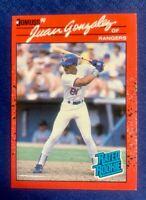 1990 Donruss Juan Gonzalez Error Card #33  REVERSE PRINT