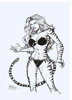 Tigra of the Avengers Original Art Sketch 11 x 17