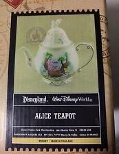 Disney Parks Alice In Wonderland Teapot Mad Hatter Cheshire Cat