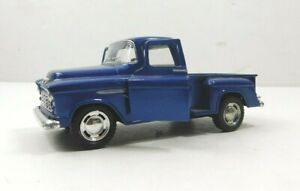 Kinsmart 1955 Blue Chevy Step Side Truck 1:32 Scale Diecast Pull Back Classic