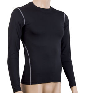 Men's Compression Base Layer Top Long Sleeve Thermal Sports Muscle Shirt Tops