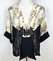 Spencer Alexis Vintage Patchwork Kimono Top Jacket Lace Women's Petite Size L