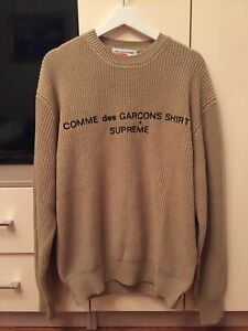 Supreme Comme des Garcons SHIRT Sweater Tan Size M