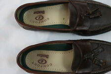 Men's Dexter Brown Leather Casual Business Slip on loafer w/ Tassels size 8.5M