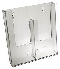 Taymar DL, 2 Pocket Wall Mounted Brochure Holder with divider - W230-D