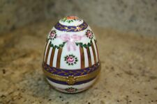 Porcelain Hinged Egg - Hand Painted
