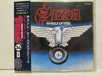 Saxon - Wheels Of Steel 1980/94 EMI Burrn Japan w/OBI Rare OOP HTF Heavy Metal