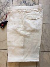 NWT  PLEATED OFF WHITE 100% LINEN PANTS MENS PRESTIGE BLACK LABEL SIZE 36