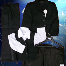 Kids Boys Formal suit suits Christening Wedding Black striped size0-14 SYD stock